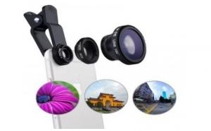 Kit 3 lentile foto detasabile pentru telefon: Macro - fish eye - wide angle la numai 44 RON in loc de 99 RON