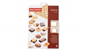 Tipar pentru 24 biscuiti, 12 modele Delicia Tescoma