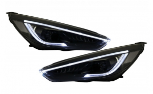 Set 2 faruri LED DRL compatibil cu FORD Focus III Mk3 Facelift (2015-2017) Bi-Xenon Design Semnalizare Dinamica