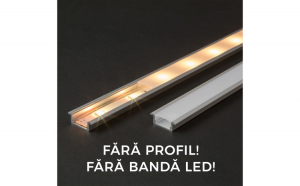 Ecran opal pt. profil aluminiu LED -