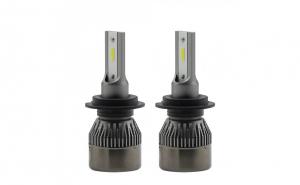 Set 2 LED-uri Auto H7, 80w per bec, 8000Lumeni, 6000k, R6
