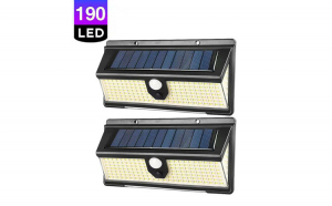 Set 2 x Lampa solara cu 190 LED-uri