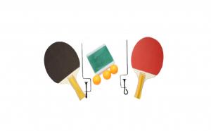 Set palete tenis de masa cu 3 mingi