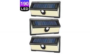 Set 3 x Lampa solara cu 190 LED-uri