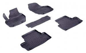 Covoare / Presuri cauciuc stil tip tavita VOLVO XC60 I 2009-2017 (5 bucati) - SEINTEX