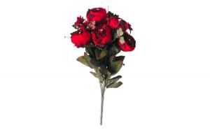 Flori artificiale, trandafiri rosi, 50