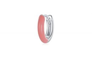 Cercel din argint 925 Pink Two color Hoop