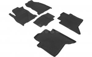 Covoare / Presuri cauciuc stil tip tavita TOYOTA Hilux VIII dupa 2015-prezent (5 bucati) - SEINTEX