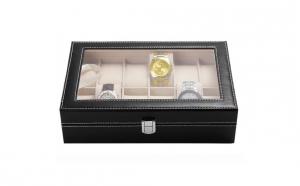 Cutie caseta eleganta, pentru depozitare ceasuri - 12 compartimente