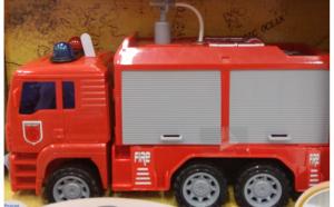 Masina de pompieri cu jet de apa, sunete si lumini