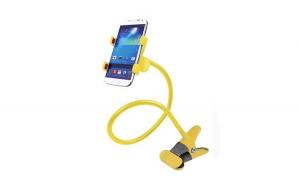 Set 10 x Suport universal pentru telefon Lazy Bracket, galben