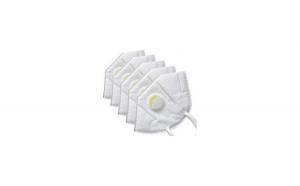 Set 5 masti de protectie KN95 FFP2 din 5 straturi,alb