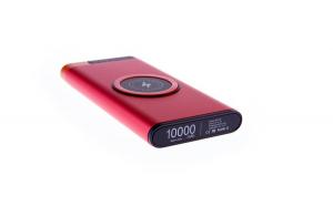 Set Acumulator Extern 10000 mAh, cu Incarcare Rapida Wireless, Intrare Usb Tip C, WP-09- Rosu si Modulator FM Centenar KC-681