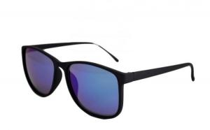 Ochelari de soare Justin  albastru reflexii - Negru Mat