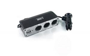 Prelungitor bricheta 3 cai cu fir si USB WF0120