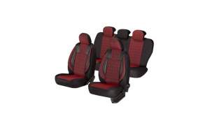 Huse scaune auto OPEL ASTRA G 1998-2009  dAL Luxury Rosu,Piele ecologica + Textil