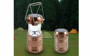 Lampa solara reincarcabila, pentru camping