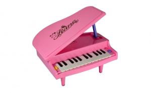 Pian roz, jucarie muzicala cu lumini si 14 clape