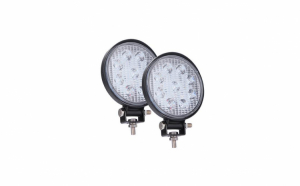 Set 2 x proiectoare LED auto, rotunde, 27W