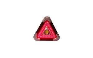 Triunghi multifuncțional portabil, Lumina alb/rosu LED-Incarcare Solara