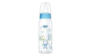 Biberon bebelusi, din sticla, albastru, 0-6 luni, 250 ml