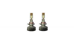 Set Bec H4 2 faze cu LED F2 chip led TAIWAN Putere: 30W  - 4800 lumen 6000k Voltaj:  12-24V