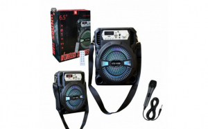Boxa Bluetooth KTS-1150 radio, mp3, telecomanda + microfon karaoke - 23cm Inaltime