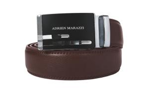 Curea barbati din piele Adrien Marazzi AM-2720 (MARO-ARGINTIU)