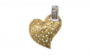 Pandantiv din argint aurit - Inima