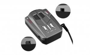 Detector radar auto V9, cu laser, alerta voce, sistem alarma, viteza si 360 grade rotatie