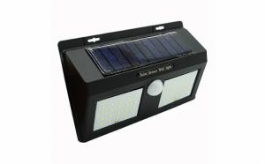 Lampa solara LED cu senzor de miscare, clasa protectie IP65, timp de lucru 12h, negru