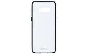 Husa Glass Case -Samsung S8 Plus,Alb