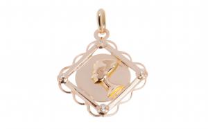 Pandantiv - Nefertiti din aur roz 14K