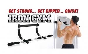 Aparat multifunctional pentru tractiuni, abdomene si flotari Iron Gym