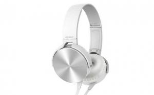 Casti audio Extra bass 450AP, conectare cu fir, jack 3,5 mm, culoare alb