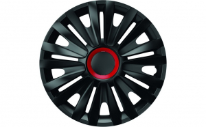 Set capace roti 14` negre cu inel rosu royal