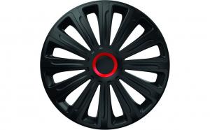Set capace roti 14` negre cu inel rosu trend