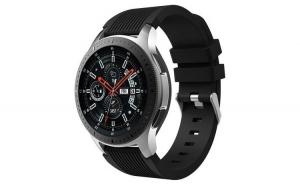 Curea Silicon Premium MTP Black 22mm Quick Release, Striatii Verticale pentru Huawei Watch GT