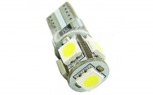 Bec LED T10 (W5W) 5-SMD CAN BUS