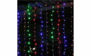 Instalatie pentru Craciun 3X1 metri - franjuri, cu LED-uri tip turturi interconectabile