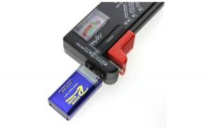 Tester pentru tensiune baterii si acumulatori 1.5V - 9V