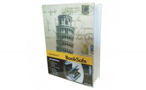 Seif in forma de carte, cu imprimeu