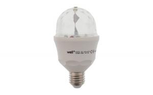 Bec cu led disco E27 3W 230V lumina RGB,