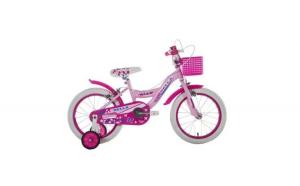 Bicicleta roz fete cu roti ajutatoare