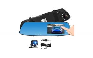 """Oglinda camera video auto dubla cu ecran 4.3"""" Touch Screen si unghi de 170°"""
