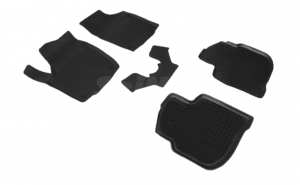 Covoare / Covorase / Presuri cauciuc stil tip tavita SKODA Rapid dupa 2012-prezent (5 bucati) (85626) -SEINTEX