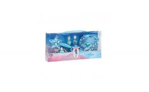 Set 4 piese Ice Princess pentru fetite, albastru