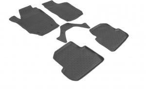 Covoare / Covorase / Presuri cauciuc stil tip tavita SKODA Fabia II 2007-2014 (5 bucati) - SEINTEX