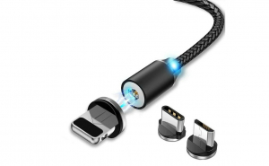 Cablu de incarcare magnetic 3in1