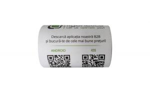 Role hartie termica ZINTA 57mm/18m, tub
